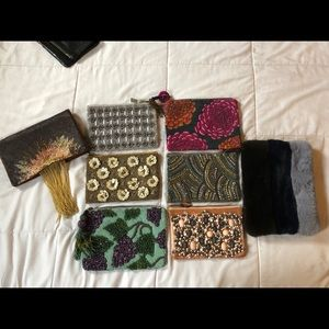 Anthropologie beaded clutch lot!!